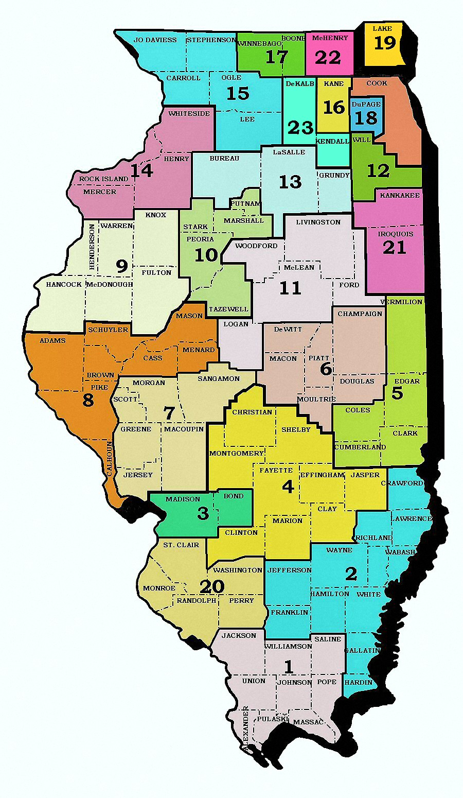 Structure Of The Illinois Court System Th Judicial Circuit - Us court districts map
